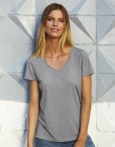 Damski t-shirt V-neck Triblend - TW058