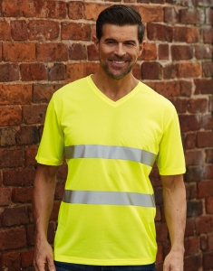 T-shirt v-neck Hi-Vis