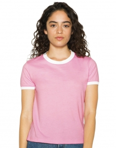 Damski T-shirt Poly-Cotton Ringer